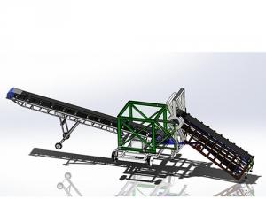 移动式伸缩卸船输送系统